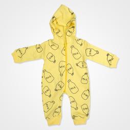 By Murat Baby Milk Kapşonlu Bebek Tulumu - Sarı Bebek Giyim