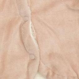 Bebemania Kadife Welsoft Kedili Kapşonlu Bebek Hırkası - Bej Rengi Bebek Giyim