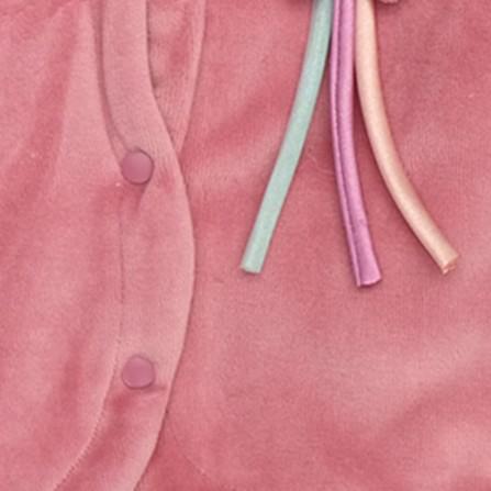 Bebemania Kadife Welsoft Yıldızlı Kapşonlu Bebek Hırkası - Mürdüm Rengi Bebek Giyim