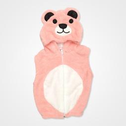 Nurcix Baby Welsoft Ayıcık Bebek Yeleği - Pembe