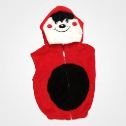 Nurcix Baby Welsoft Uğur Böceği Bebek Yeleği - Kırmızı Bebek Giyim