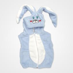 Nurcix Baby Welsoft Tavşan Bebek Yeleği - Açık Mavi Bebek Giyim