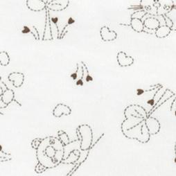 Baby Too BaskılıÇıtçıtlı Bebek Zıbın Seti 4'lü - Beyaz Üstüne Kahverengi Ayıcıklar Bebek Giyim
