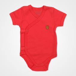 Pino Baby Kısa Kollu Çıtçıtlı Body Bebek Zıbın Seti 2'li - Kırmızı Bebek Giyim