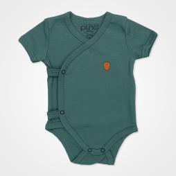 Pino Baby Kısa Kollu Çıtçıtlı Body Bebek Zıbın Seti 2'li - Yeşil Bebek Giyim
