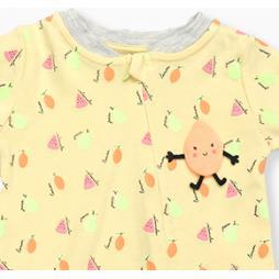 Divo Karpuz Tulumu Tek Parça - Sarı Bebek Giyim