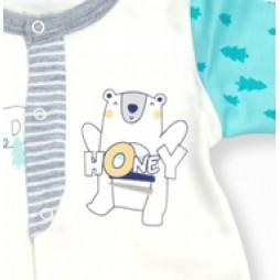 İmaj Ayıcık Bebek Takımı 8'li - Mint Yeşili Bebek Giyim