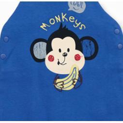 İmaj Monkey Erkek Tulumlu Salopet Bebek Takımı 2'li - Lacivert Bebek Giyim