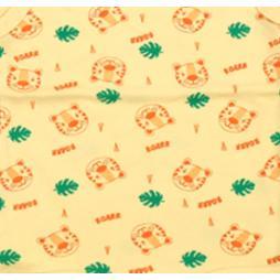 Minisoft Kaplan Baskılı Çıtçıtlı Bebek Zıbın Seti 3'lü - Sarı