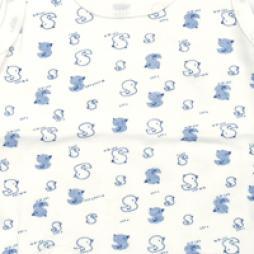 Minisoft Ördek Baskılı Çıtçıtlı Bebek Zıbın Seti 3'lü - Mavi Bebek Giyim