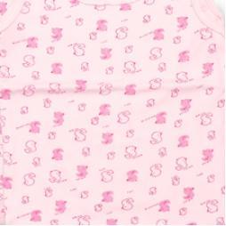 Minisoft Ördek Baskılı Çıtçıtlı Bebek Zıbın Seti 3'lü - Pembe Bebek Giyim