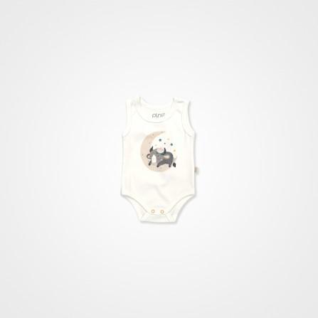 Pİno Baby Uyuyan Buzak 3'lü Bebek Tulum - Krem Bebek Takımları
