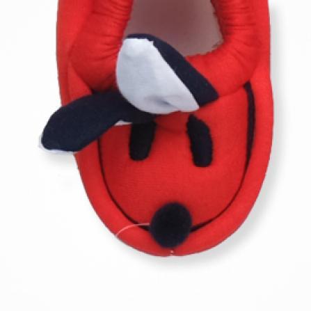 Pommy Tavşanlı Bebek Patiği -  Kırmızı